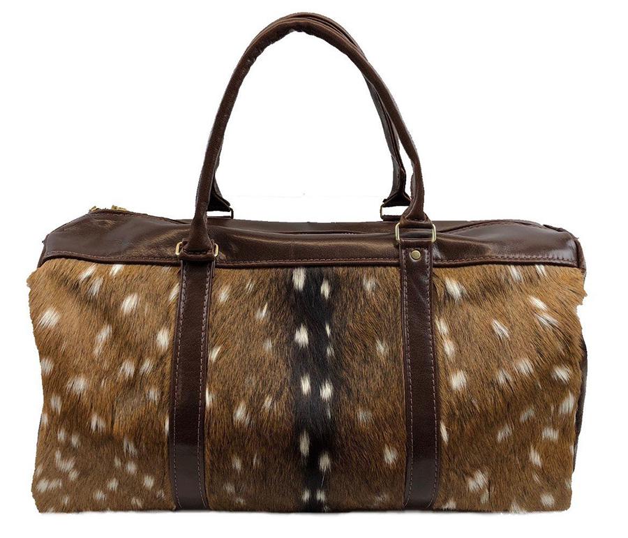 Axis Deer Hide & Leather Duffel Bag - African Game Industries