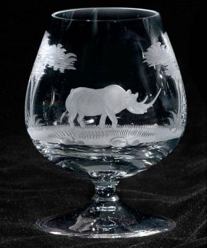12 oz. Crystal Brandy Snifter from Queen Lace Crystal - Hand-engraved Crystal