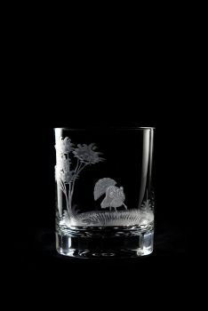 turkey design - 12 oz old fashioned glass by Queen Lace Crystal