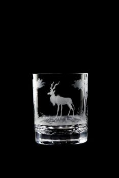 Kudu design - 12 oz Old Fashioned glass by Queen Lace Crystal