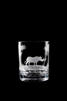 Lion design - 12 oz Old Fashioned glass by Queen Lace Crystal