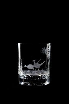 pheasant design - 12 oz old fashioned Queen Lace Crystal