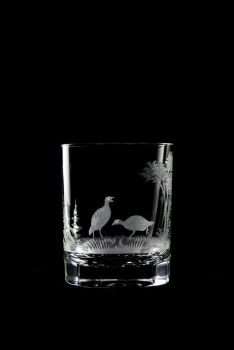 Quail design - 12 oz. old fashioned Queen Lace Crystal