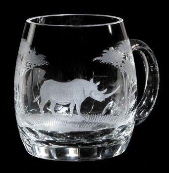 20 oz. Crystal Beer Mug from Queen Lace Crystal - Hand-engraved Crystal