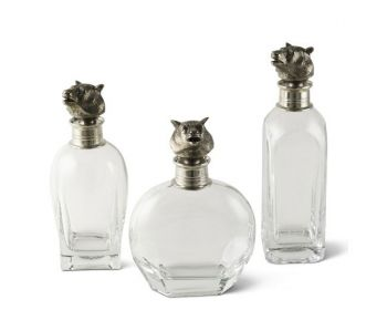 3 sizes of Bear Liquor decanters from Vagabond House