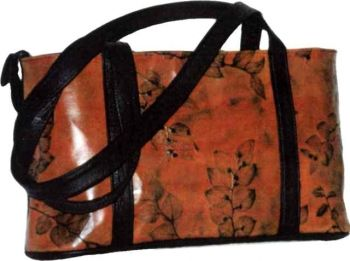 Medium Leaf Leather Tote - CL Whiting, Leaf Leather