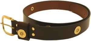 "1 1/4"" wide AA Multishot Leather Belt by Royden Leather Belts"