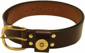 "1 1/4"" wide AA Shotshell Leather Belt by Royden Leather Belts"