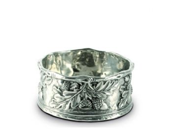 Acorn Leaf Pewter Wine Coaster from Vagabond House