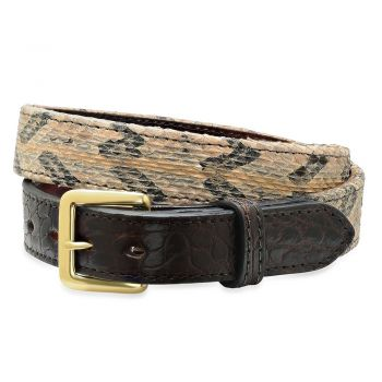 Alligator Canebrake rattlesnake Belt by Bull and Briar