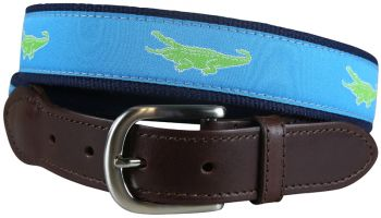 Alligator Leather Tab Belt by Belted Cow