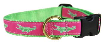 Alligator one inch dog collar by belted cow
