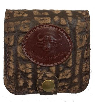 Cape Buffalo Hide 5-Shell Pouch - Brown