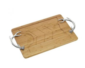 antler carving board by Arthur Court