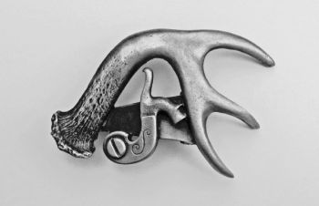 Antler with Percussion Pewter Buckle by Sid Bell Originals