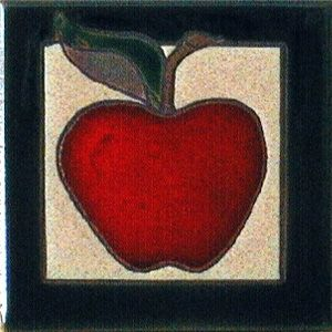 Apple Ceramic 4 x 4 Tile by Jeanne Maanum