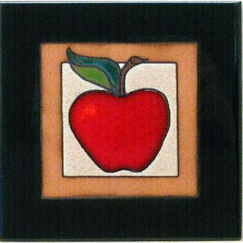 Apple Ceramic Tile - Fruit themes tiles - Maanum Custom Tiels