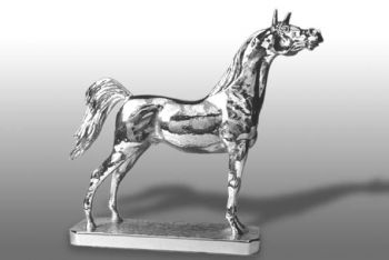 Arabian Horse - Large - Hood Ornament or Car Mascot by Louis Lejeune comes in chrome, bronze, enamel or gold plated