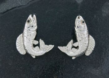 Arctic Grayling Sterling Silver Cufflinks by Tight Lines Jewelry