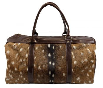 Axis Deer Hide & Leather Duffel Bag - back