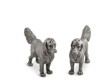 Flat Coat Retriever Pewter Salt & Pepper Set - Vagabond House