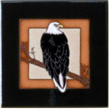 Bald Eagle Ceramic Tile - Maanum Custom Tiles
