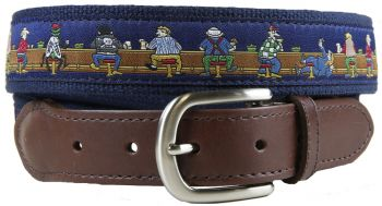 Bar Flies Leather Tab Belt by Belted Cow
