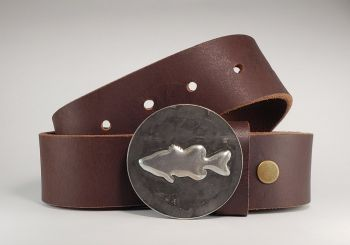 Bass Hand Embossed Buckle and Belt by Tyger Forge