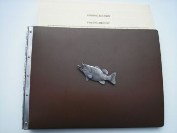 Bass Fishing Record Leather Journal by Royden Leather