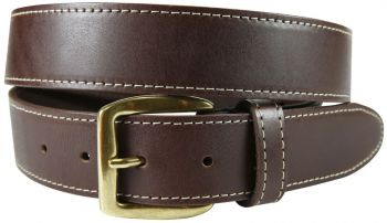 Baxter Leather Belt with Contrast Stitching