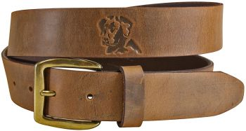 Embossed Lab on Old Town Leather Baxter Belt by Belted Cow