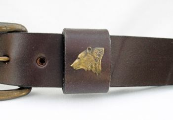 Bear Head Belt by Royden Leather Belts