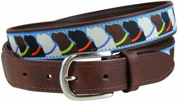 Who Wants Treats Leather Tab Belt by Belted Cow