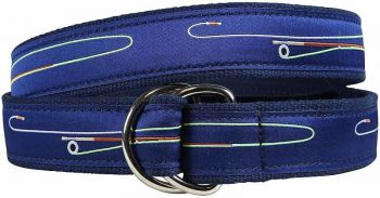 Fly Rod D Ring Belt by Belted Cow