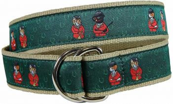 Fox and Hound D Ring Belt by Belted Cow