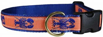 Belted Cow Lobster one inch dog collar - melon color