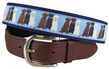 Three Labs Leather Tab Belt by Belted Cow