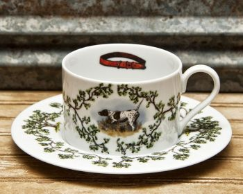 Bird Dog on Point Cup and Saucer Plantation China by WM Lamb and Son