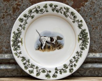 Bird Dog on Point Salad Plate Plantation China by WM Lamb and Son