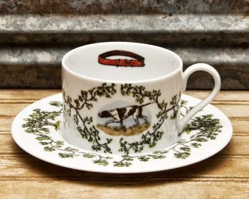 Birdie Cup and Saucer Plantation China by WM Lamb and Son