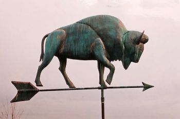 Buffalo weathervane by Barry Norling