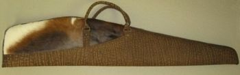 Blesbok and Cape Buffalo Hide Rifle Case