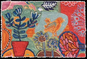Bloomer Garden - horizontal format - hand-hooked rug by Michaelian Home