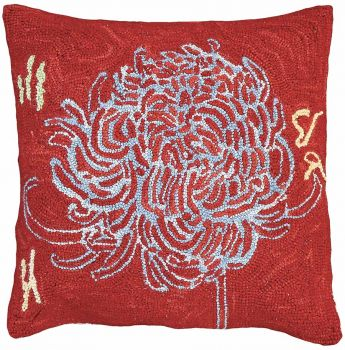 Bloomers 3 Michaelian Home Needlepoint Pillow