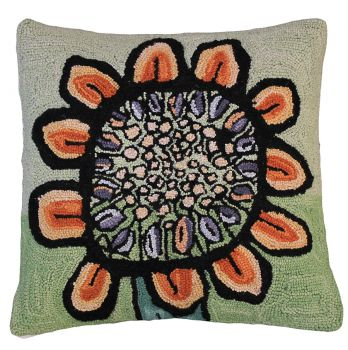 "Fantastic 20"" x 20"" larger than life abstract sun flower pillow"