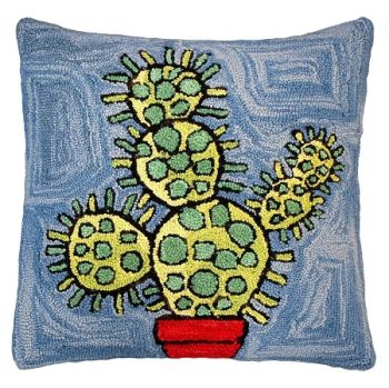 "Bloomers is a 20"" x 20"" Hooked Pillow by Michaelian Home"