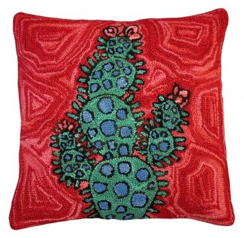 Bloomers 9 Hooked Pillow by Michaelian Home