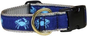 Blue and Navy one inch dog collar by Belted Cow