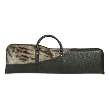 Blue Wildebeest and Cape Buffalo Hide Shotgun Take-down Case