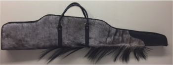 Blue Wildebeest Hide Rifle Case - Contoured Design with mane detail